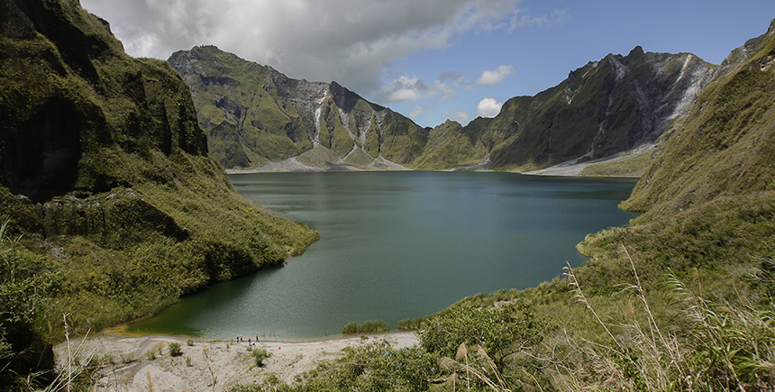 Mount Pinatubo's crater lake