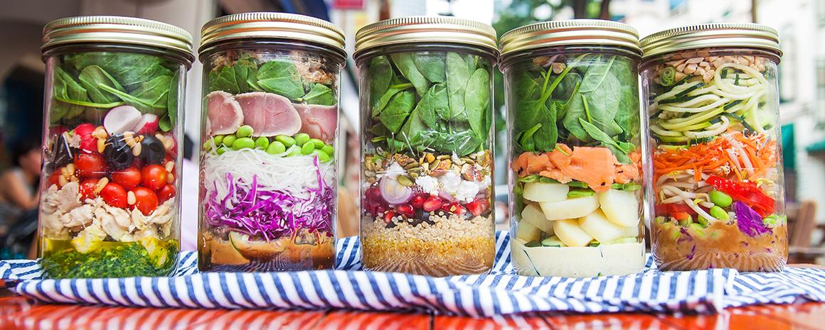 Salads at Jar'd