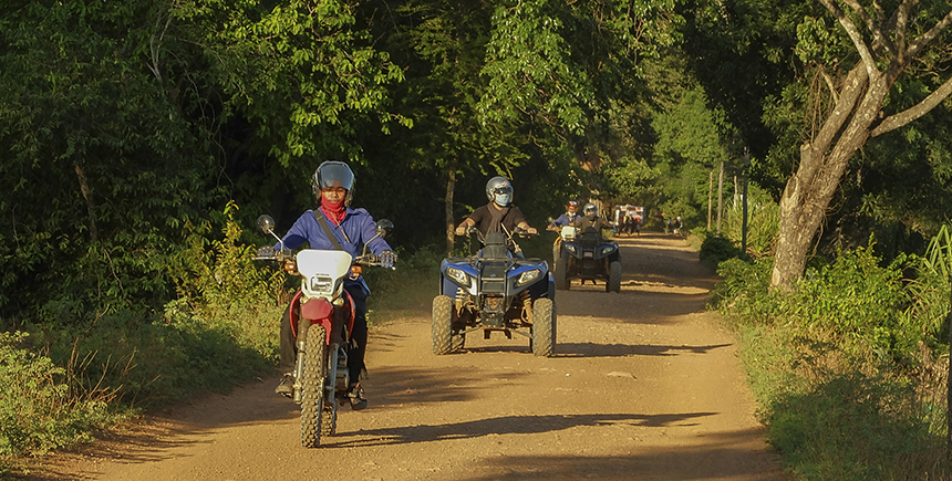 Dirt biking in Angkor
