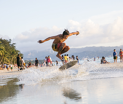 Watersports abound in Boracay