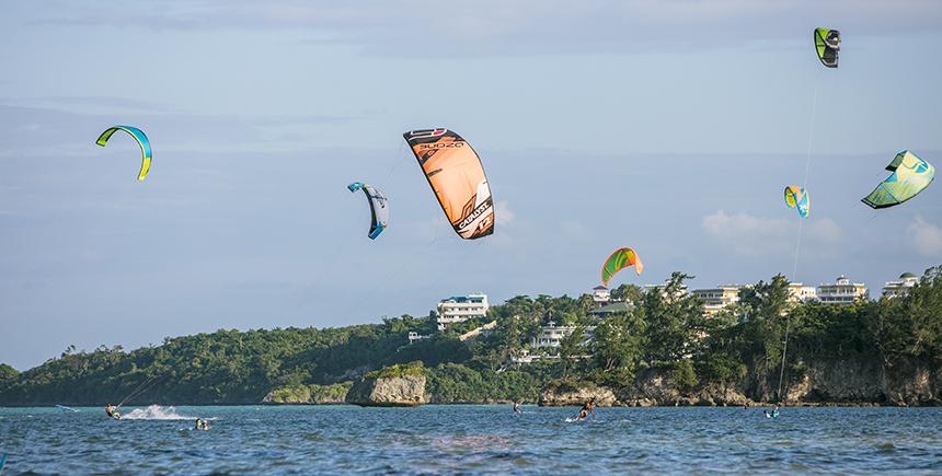 Kiteboarding at Bulabog Beach