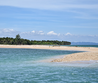 The tail of the tadpole-shaped Malawmawan Island