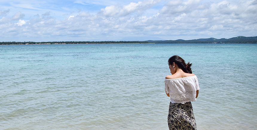 Clear turquoise waters await visitors to Malawmawan Island