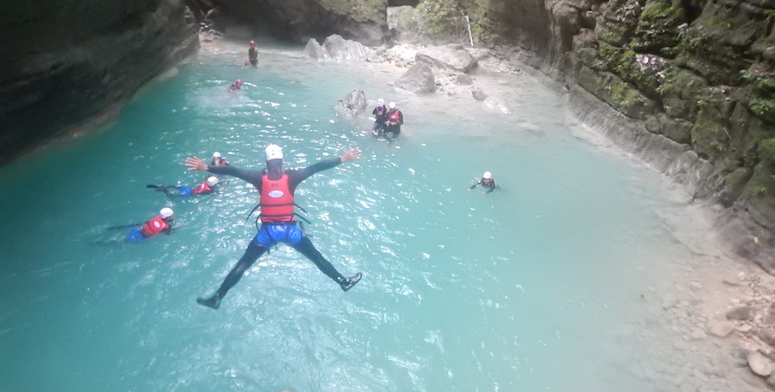 Take a leap of faith at Kawasan Falls in Badian, Cebu