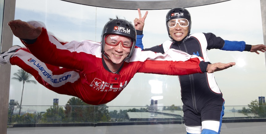 Flying without wings at iFly Singapore