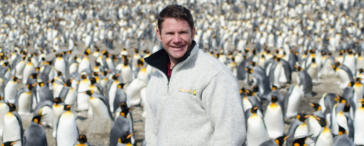 EPISODE 11 - ANTARCTICA. Picture Shows: Steve Backshall witnesses the spectacle of hundreds of thousands of king penguins at their breeding colony on South Georgia.