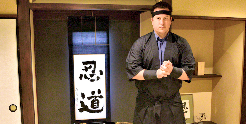 Writer Ronan O'Connell is ninja for a day in Kyoto