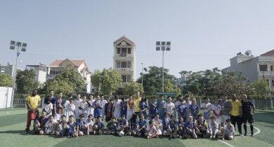Giao hữu bóng đá trường Quốc tế QSI và trường Phổ thông Gateway Hải Phòng