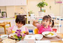 dạy trẻ mầm non ăn đúng cách