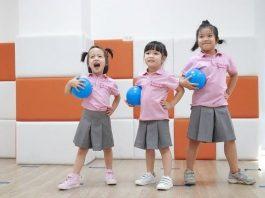trẻ tại trường mầm non sakura