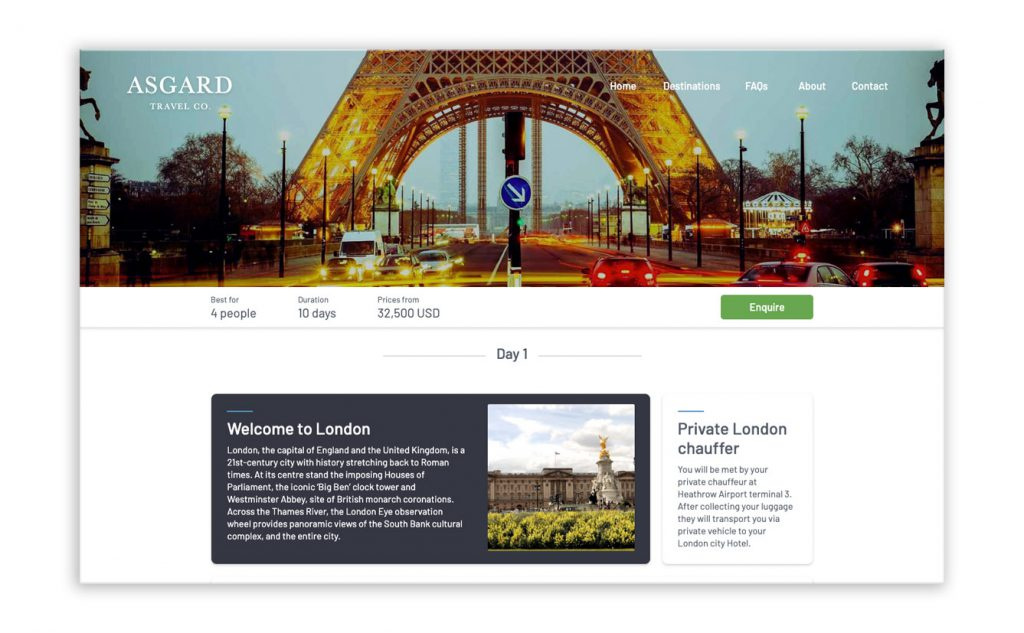 sell itineraries online