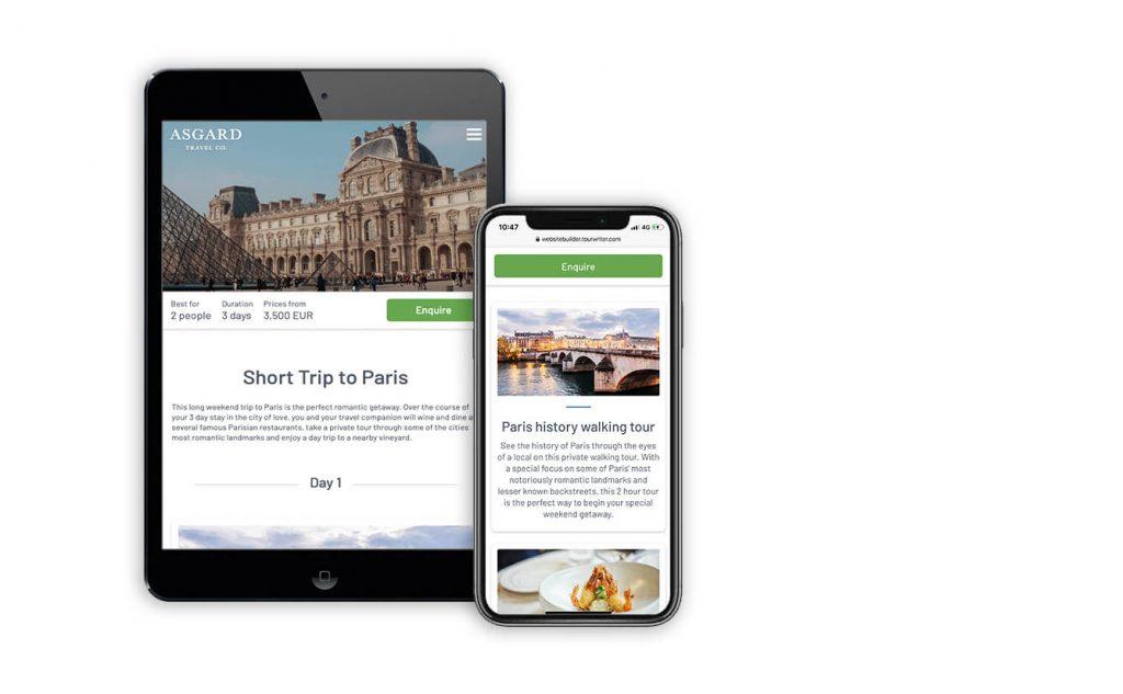 mobile friendly travel website