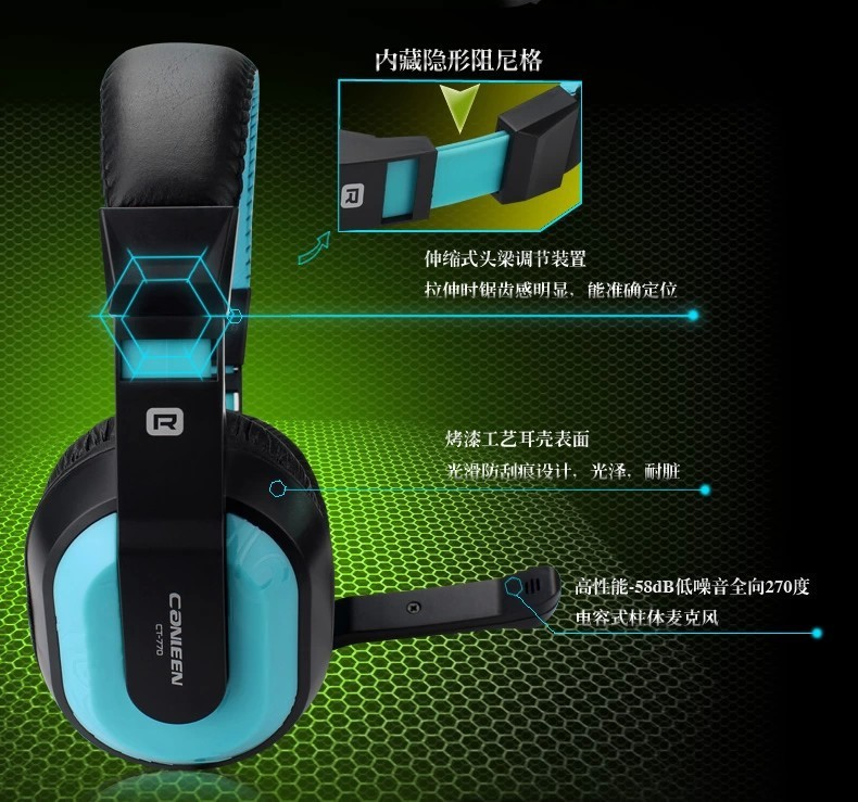 Canleen CT-770 Gaming Stereo Heavy Bass Headphone With Mic for...