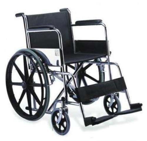 Steel Wheelchair with Alloy Rims