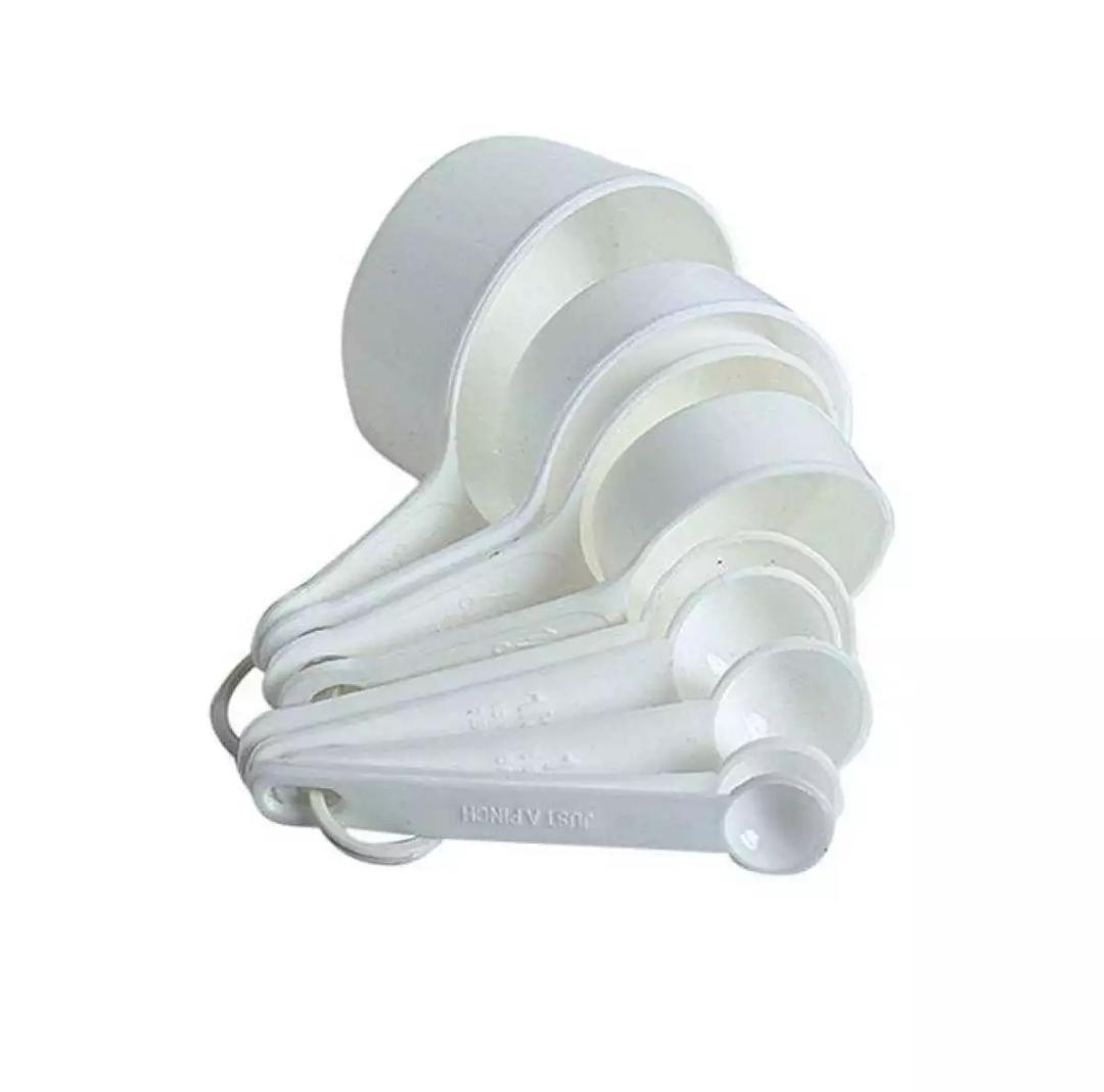 9 PCS PLASTIC MEASURING SPOON SET WHITE