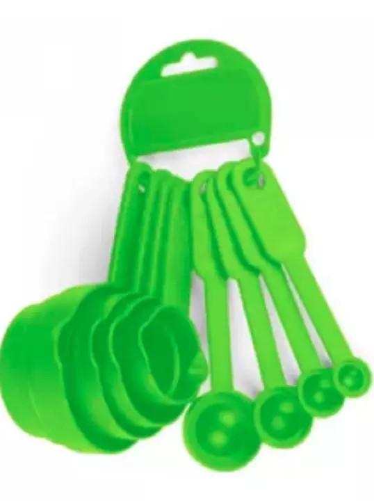 9 PCS PLASTIC MEASURING SPOON SET GREEN
