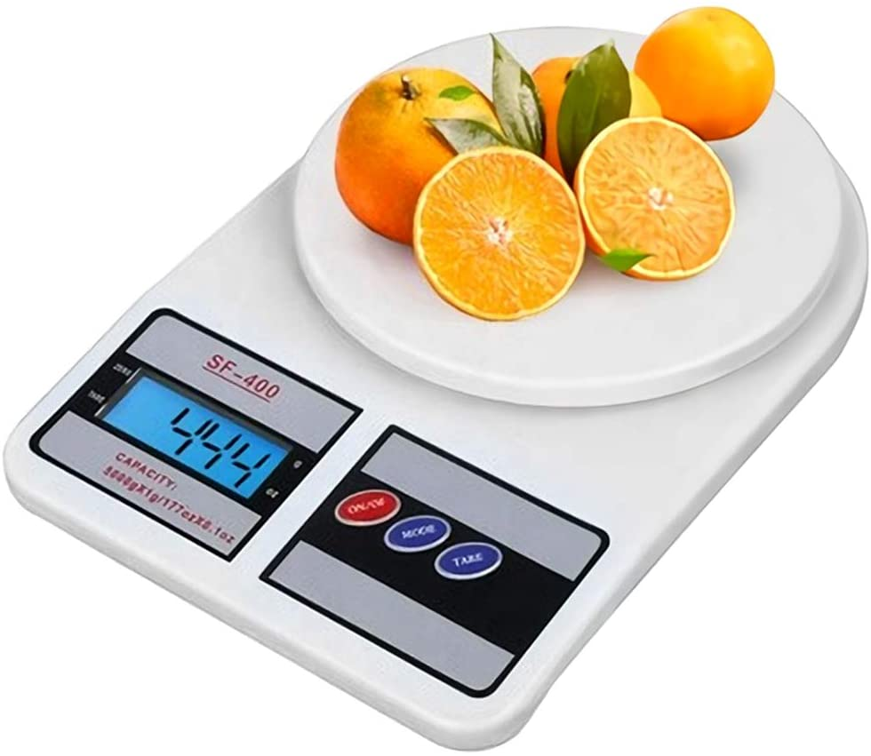 SF- 400 Electronic Kitchen Scale, Digital LCD Display, 10 kg...