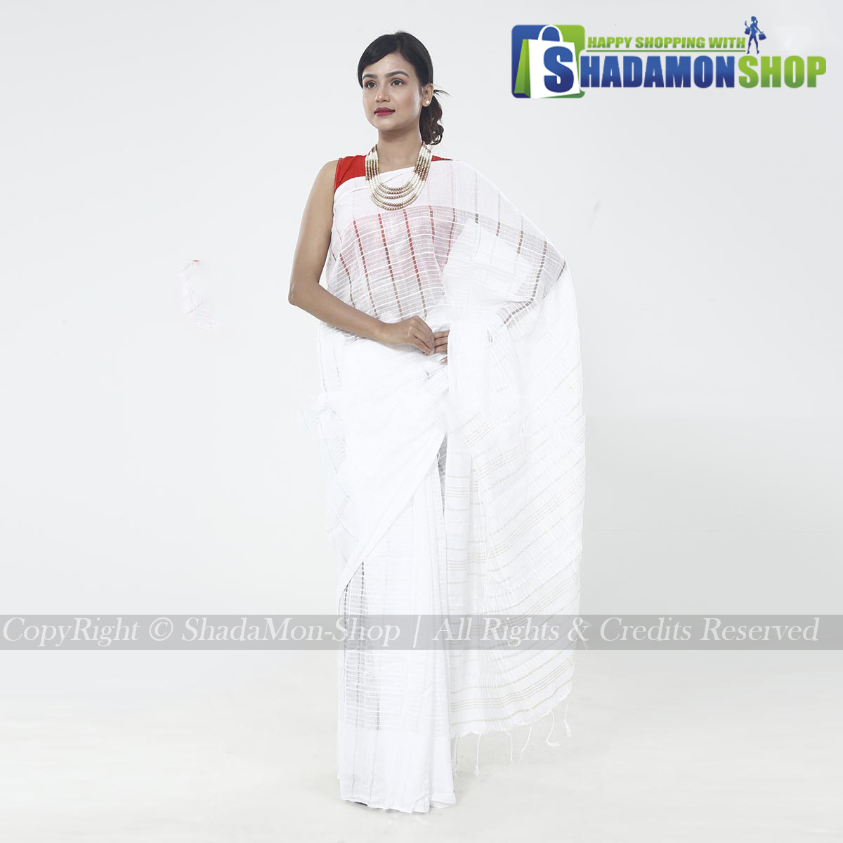 Jhoom Silk Sharee White Colour For Women's