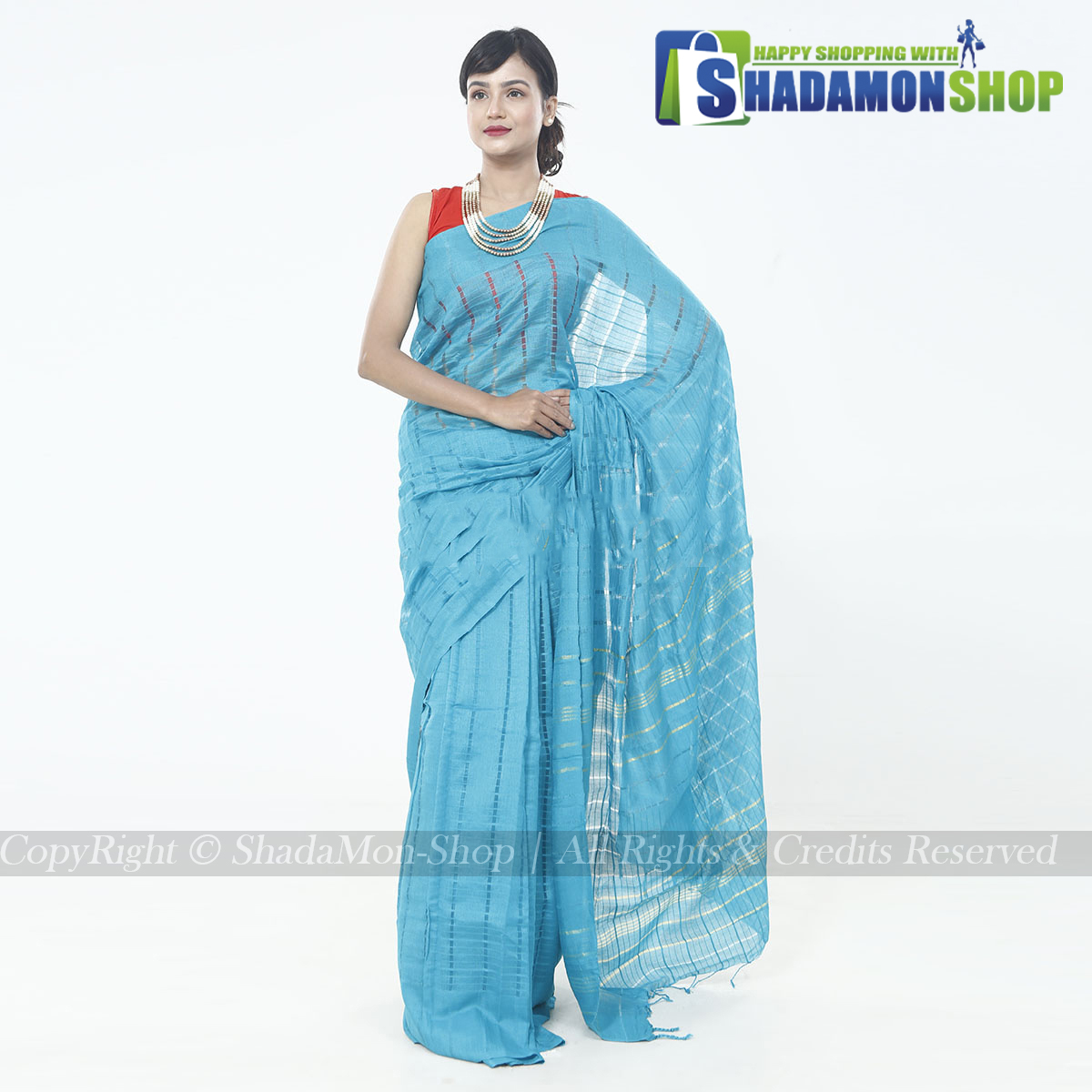 Jhoom Silk Sharee Blue Colour For Women's