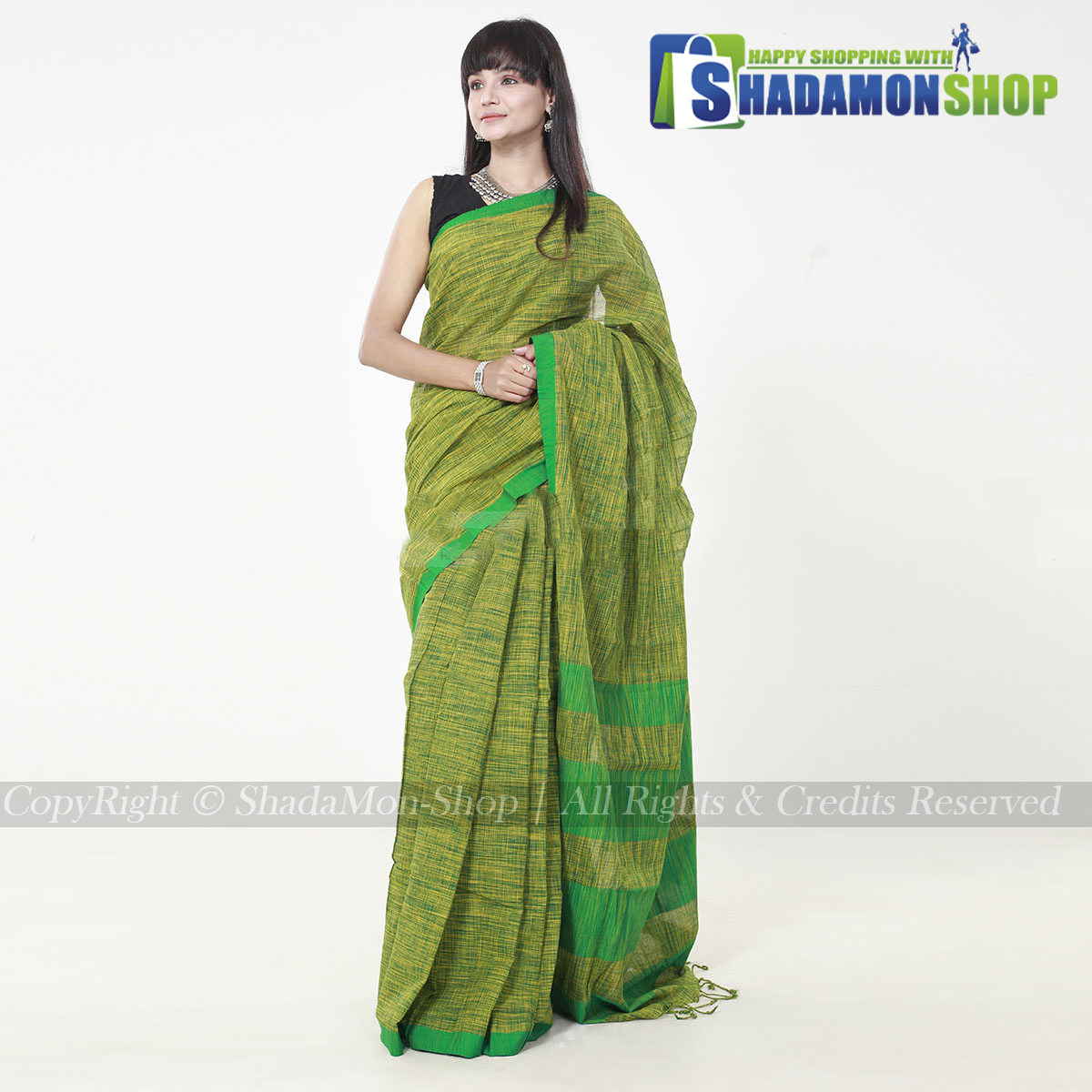 Jhorna Soft Cotton Sharee For Women's
