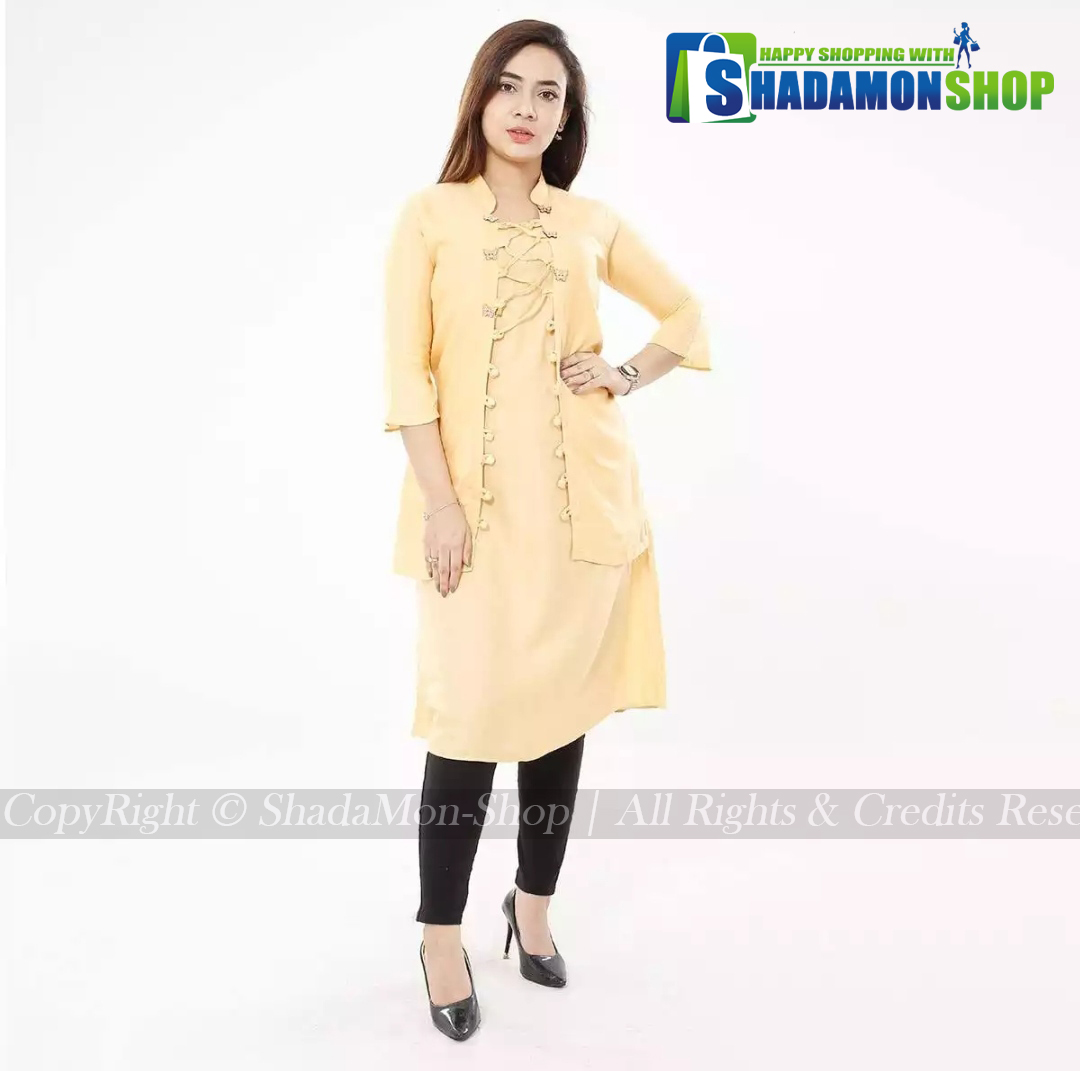 New Stylish OffWhite Colour Butterfly Kurti