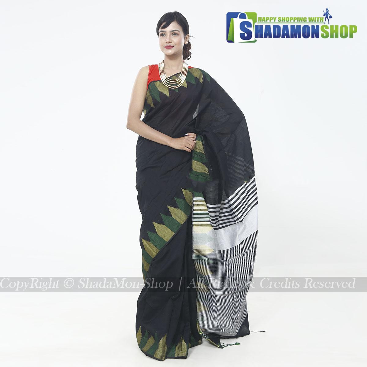 Moni Puri Silk Sharee Black Colour