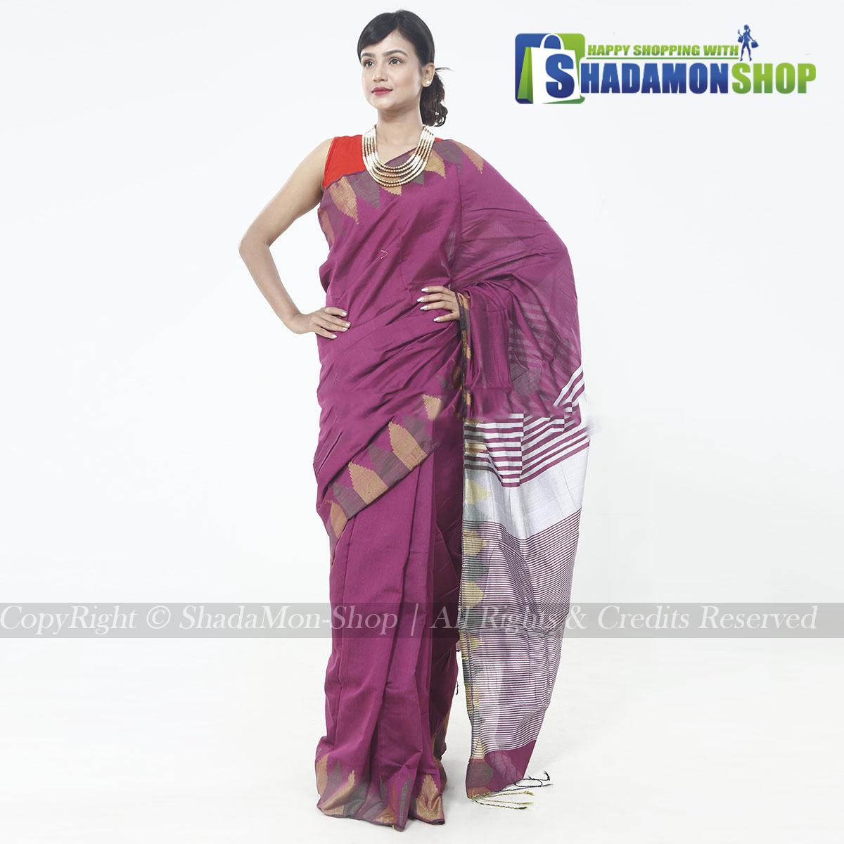 Moni Puri Silk Sharee Purple Colour