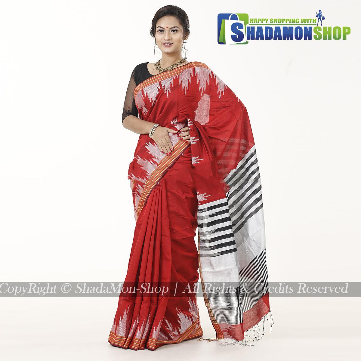 Moni Puri Silk Sharee Red Colour