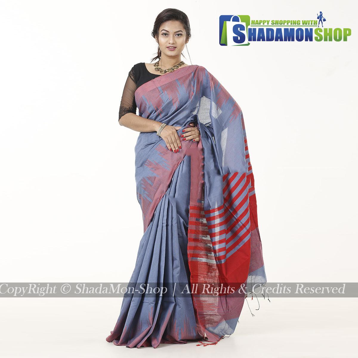 Moni Puri Silk Sharee Ash  Colour
