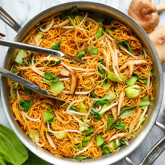 Crispiness of the noodles
