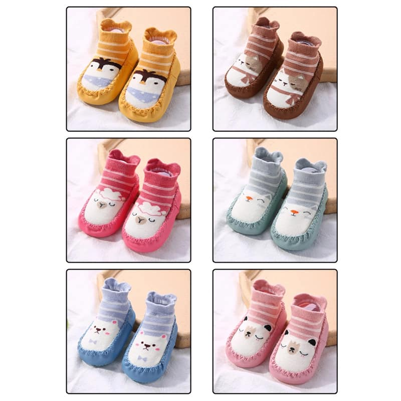 Anti Slip Socks Shoe With Rubber Soles For Kid's