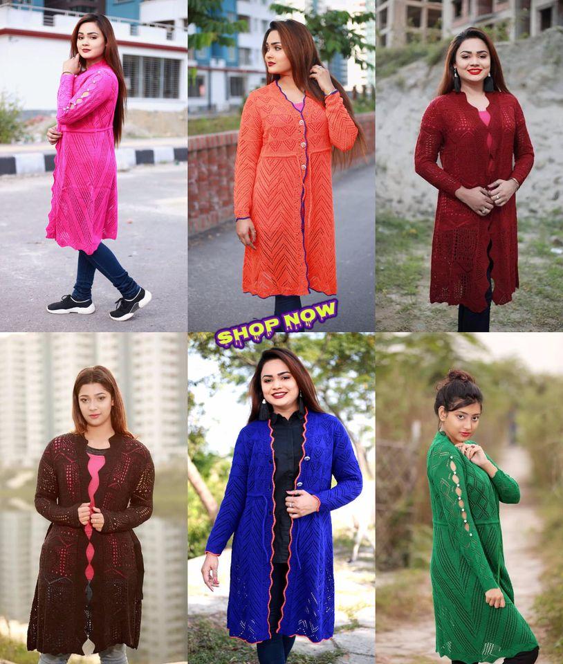 Women Maroon Self Design Longline Front-Open Sweater