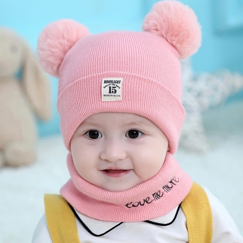 Baby Winter Hat With Scarf