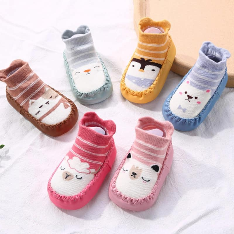 Kid's Anti Slip Socks Shoe With Rubber Soles