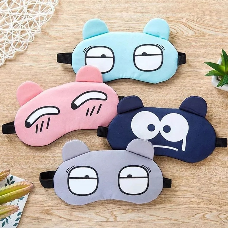 Soft Eye Sleep Aid Mask with Comfortable Ice Compress Gel Travel Rest Eye Shade Cover