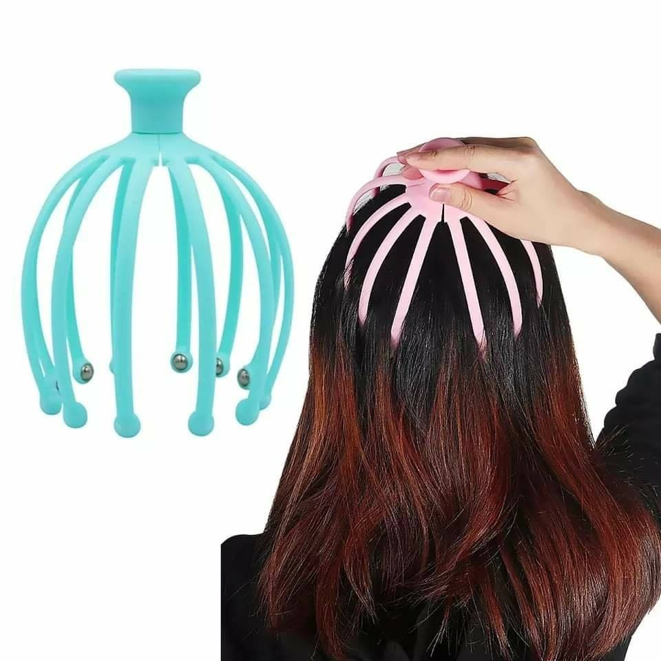 Head Scalp Massager Comb Neck Massage Roller Octopus Claws Magnetic Ball Relax SPA Hair Care for Hair Growth Stress Relief Rest
