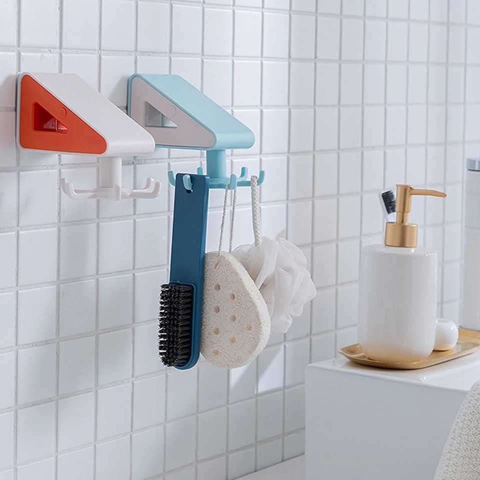 Wall Mounted 360 Degrees Hanger Hook and Towel Holder