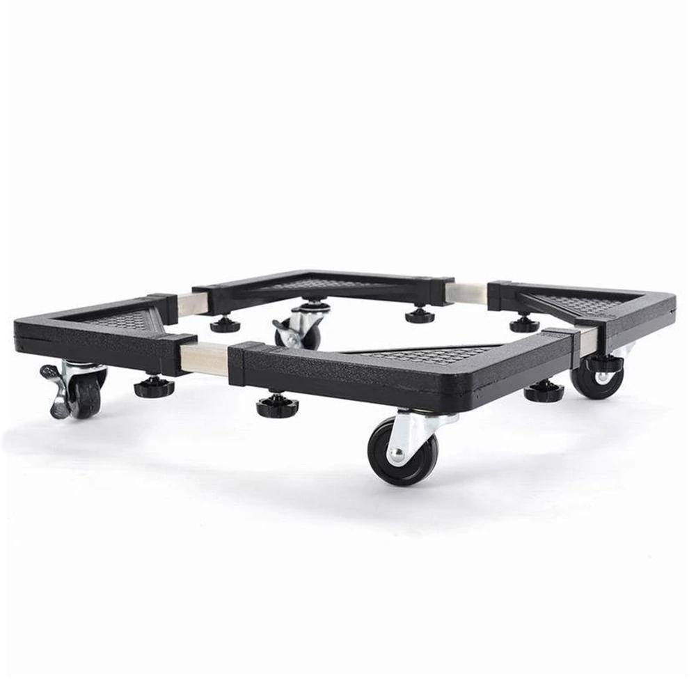 Heavy Duty Mount Fridge Adjustable Stand rack With Wheels Washing Machine Adjustable Base Stand