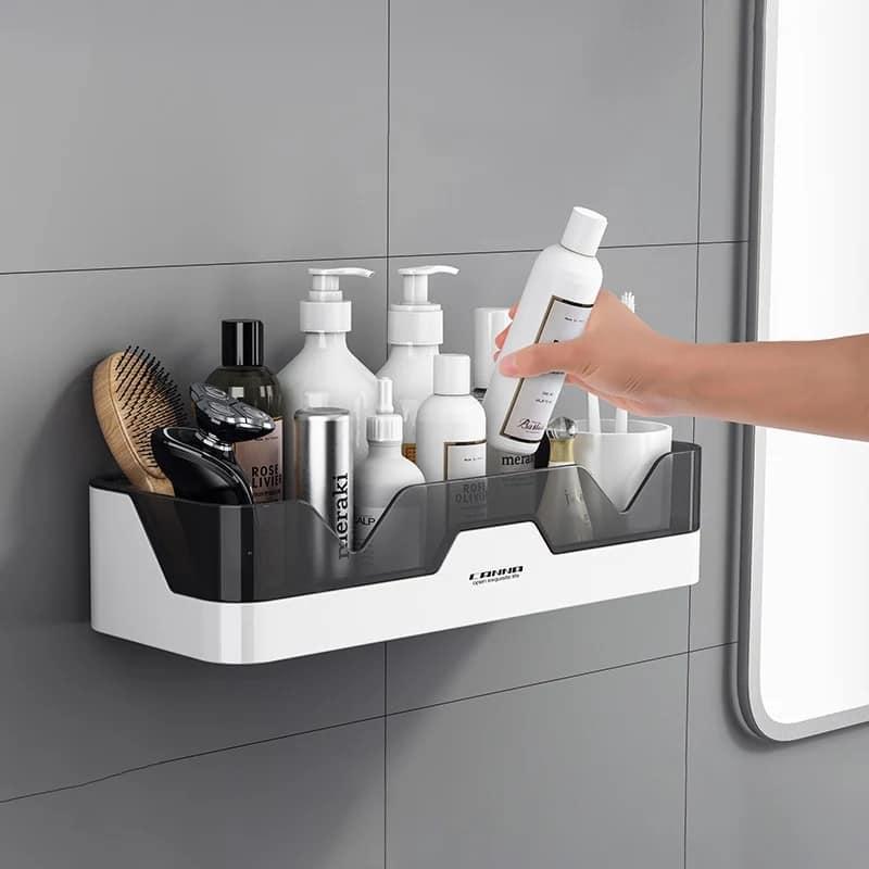 Bathroom Shelf WC Shampoo Holder Shower Shelves Wall Mount Kitchen...