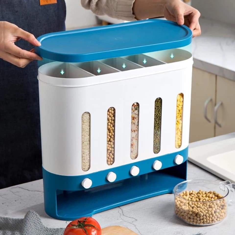 5 Grid New Kitchen Storage Box (Wall-Mounted)