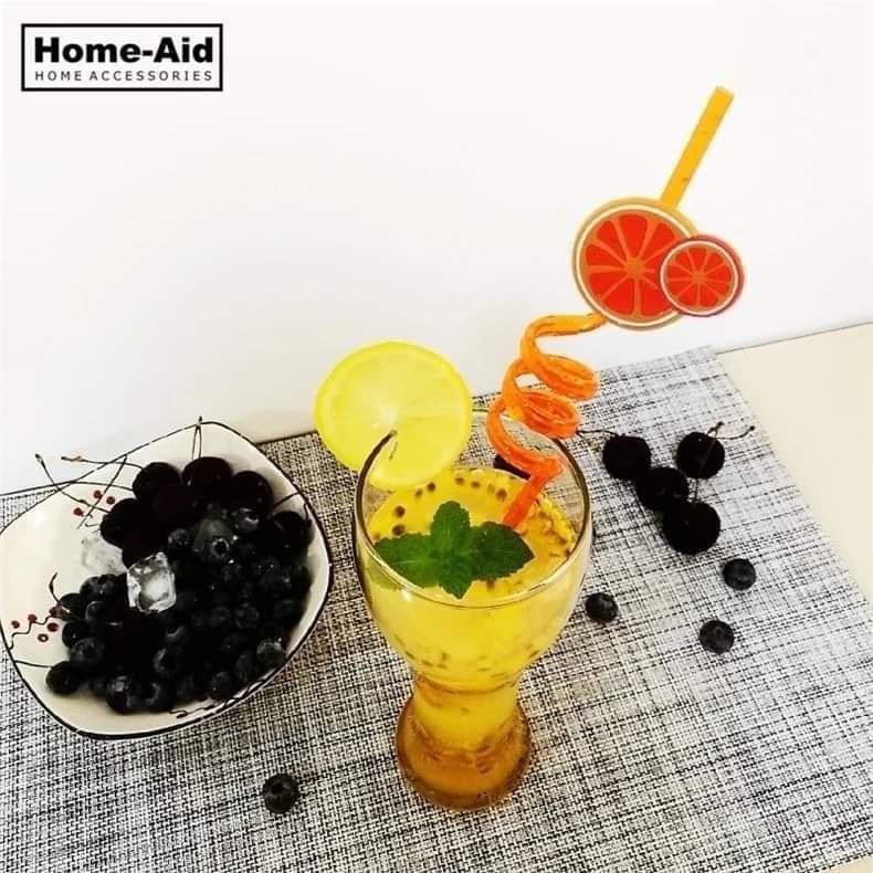 4pcs/lot 3D Fruit Shape Reusable Straw Flexible Plastic Decor Bar Tools Wedding Party Drinking Straws Cocktail Accessories Art