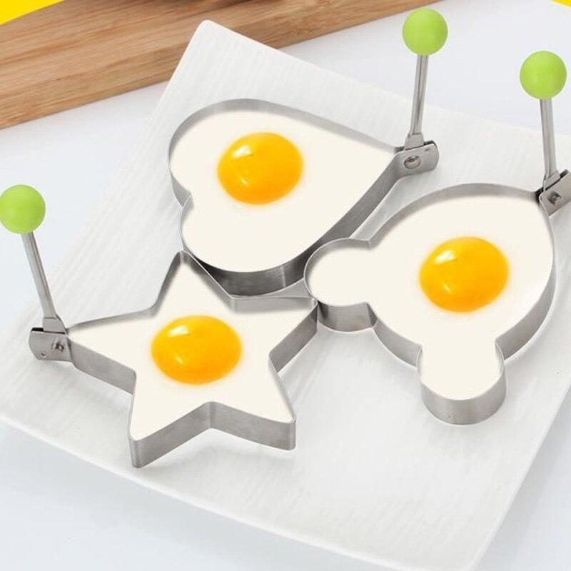 Stainless steel fried egg mold | Stainless Steel Set, Pancake...