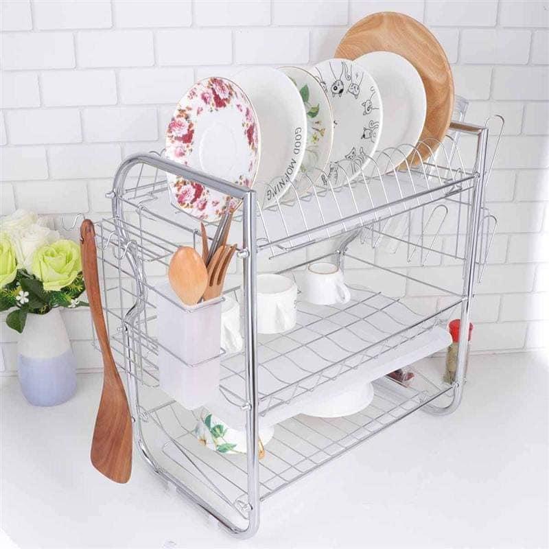 Modern design 3 tier kitchen dish drying rack