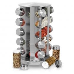 20 pcs Spice Glass Jar with Revolving Holder Pot