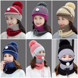 Winter Women's Hat With Scarf