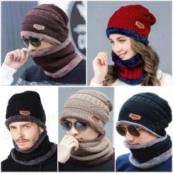 Winter Unisex Cap & Scarf Set