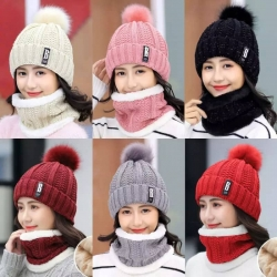 Women's Winter Hat With Scarf