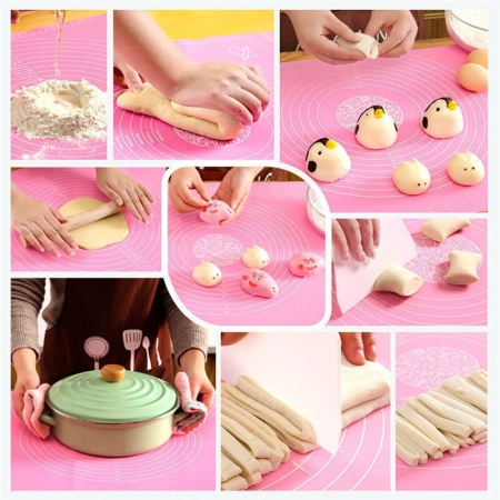 Silicone Flour Mat Non Stick Baking Mat Pad