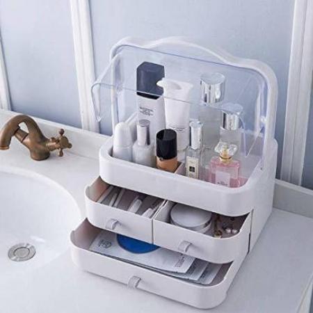Cosmetics storage box-3 drawer