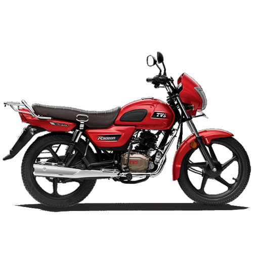 TVS Radeon 110cc Motorcycle (Red)